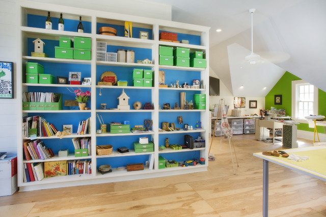 Craft Room eclectic-home-office