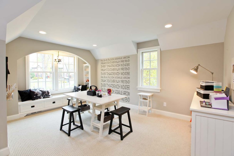Example of a classic craft room design in Minneapolis