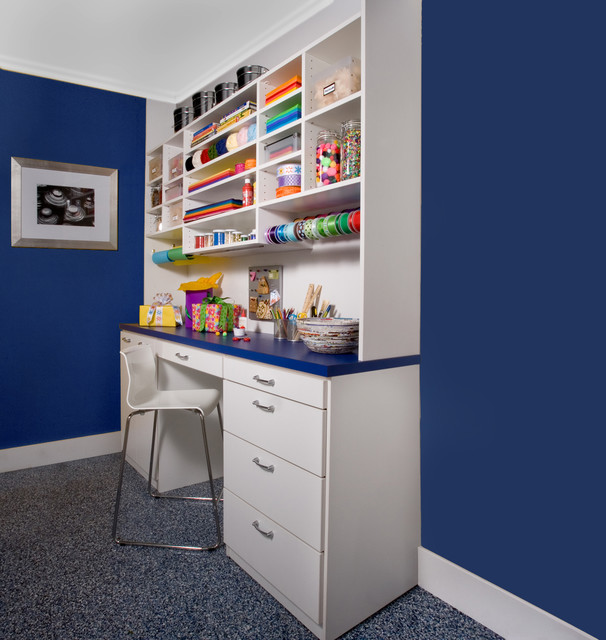 arts crafts home office. Craft Room Contemporary-home-office-and-library Arts Crafts Home Office N