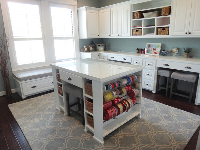 Craft Room With Custom Millwork Traditional Home Office