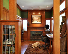 Craftsman Inspired Kitchen traditional home office