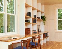 Crane Island Cabin modern-home-office