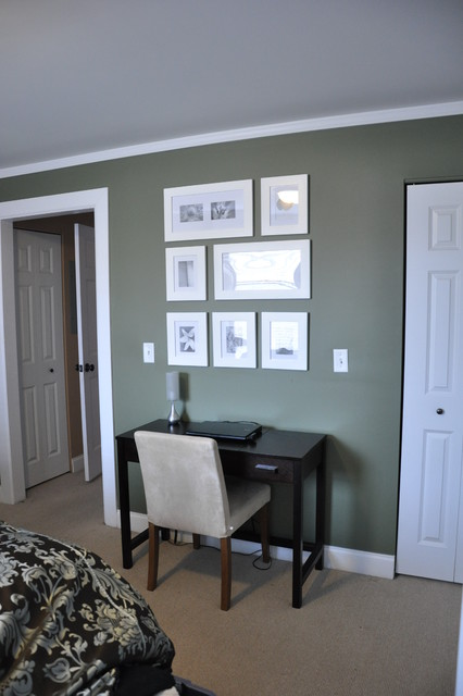 Creating space for a desk in the bedroom contemporary for Creating a home office