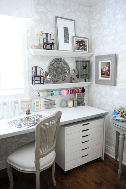 Creative Home Office and Craft Room shabby-chic-style-home-office