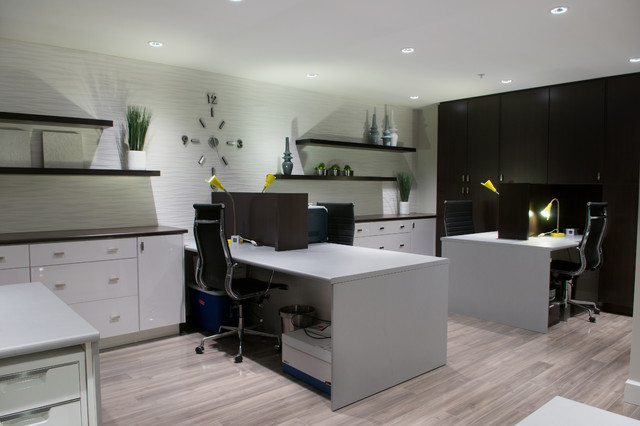 Current interior design from wallflower boutique modern for Modern home office design