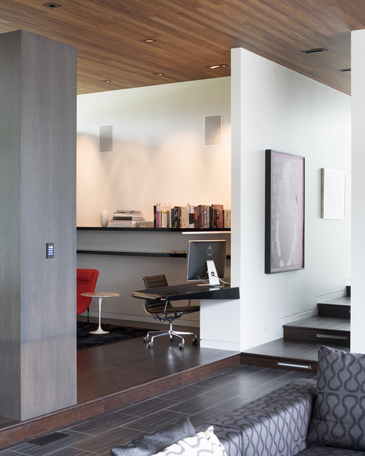 Curved House contemporary-home-office