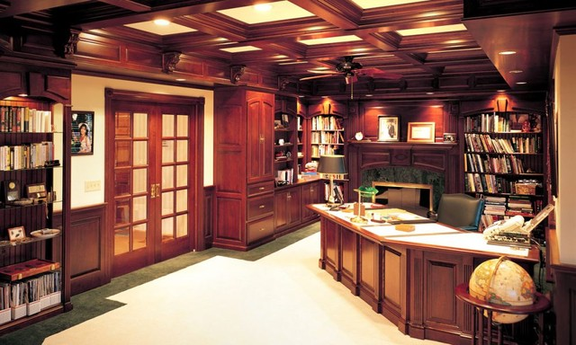 Custom Amish Cabinets traditional home office