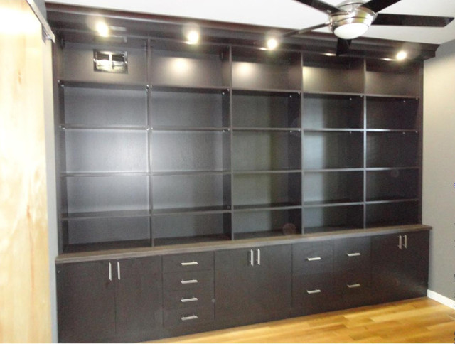 Custom Bookcase - Contemporary - Home Office - denver - by California Closets Colorado