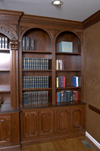 Custom Bookcase in Cherry - Traditional - Home Office ...