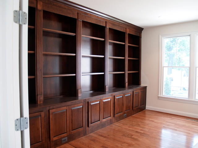 custom bookcases traditional home office boston by showroom