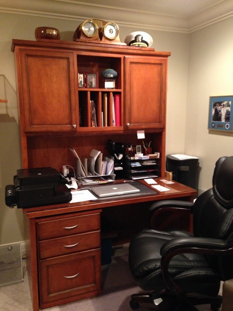 custom built desk traditional home office by benchmark custom