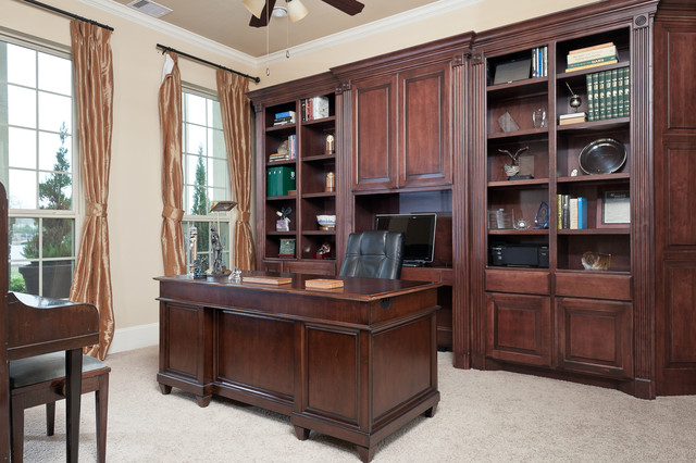 Custom Built In Cabinetry Traditional Home Office Houston By Brickhouse Construction Llc