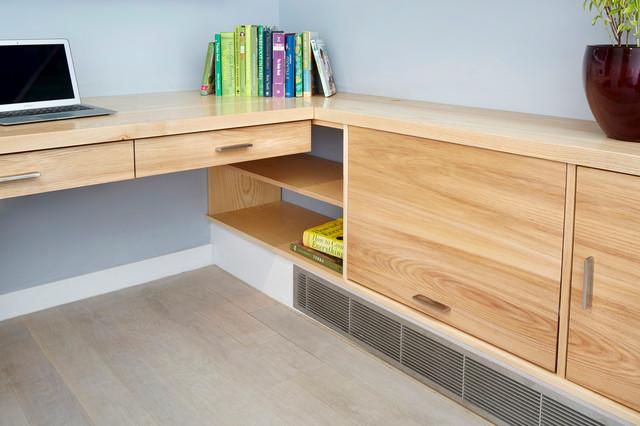 custom built in desk modern home office new york