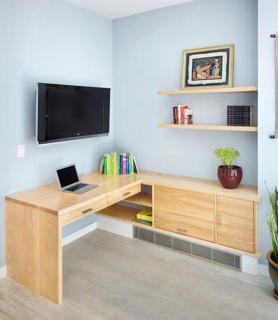 Custom Built In Desk Modern Home