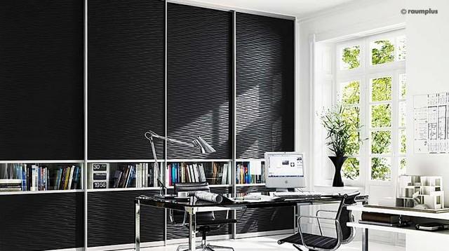 "Raumplus - ""Wave Black"" modern-interior-doors"