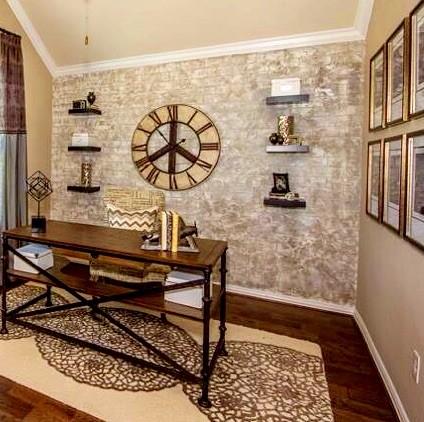custom faux brick walls. Black Bedroom Furniture Sets. Home Design Ideas