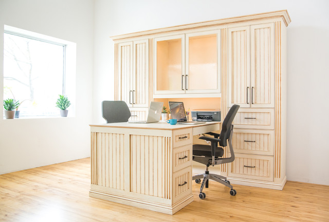 Custom His And Hers Desk Traditional Home Office