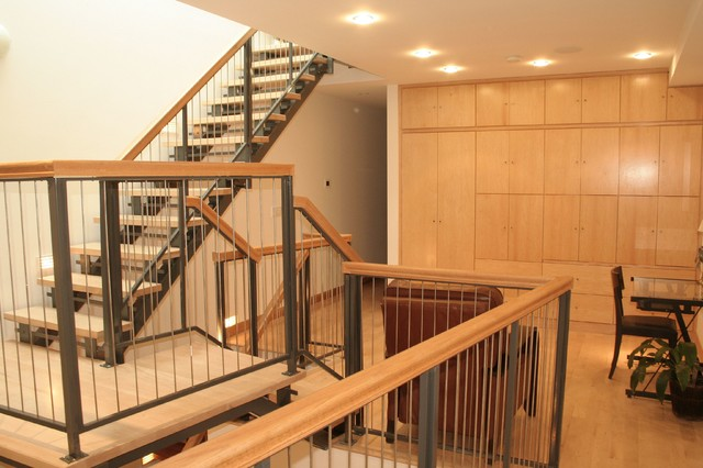 Custom Hoboken Townhome contemporary-home-office