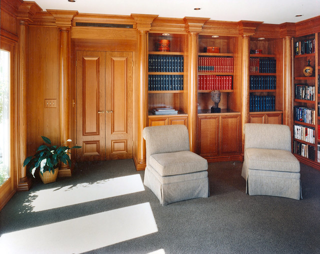 Custom Home Library Traditional Home Office