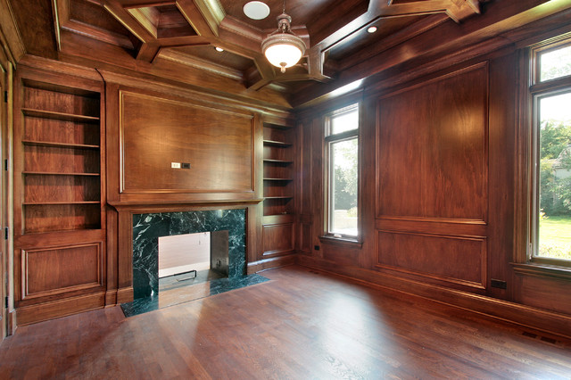 Custom home northbrook il traditional home office for Office design northbrook il