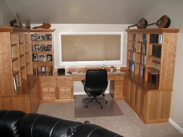 Unique  Home Office Intended For Home Office Cabinets Home Office Cabinets