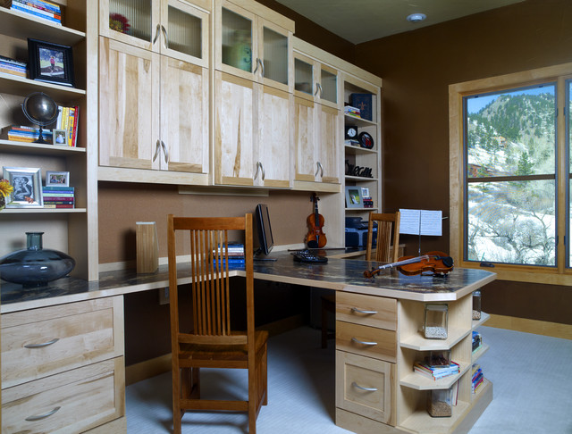 custom home office eclectic home office denver by