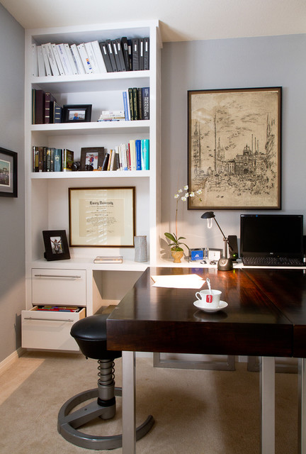Custom Home Office Contemporary Home Office Austin By Darbyshire Designs