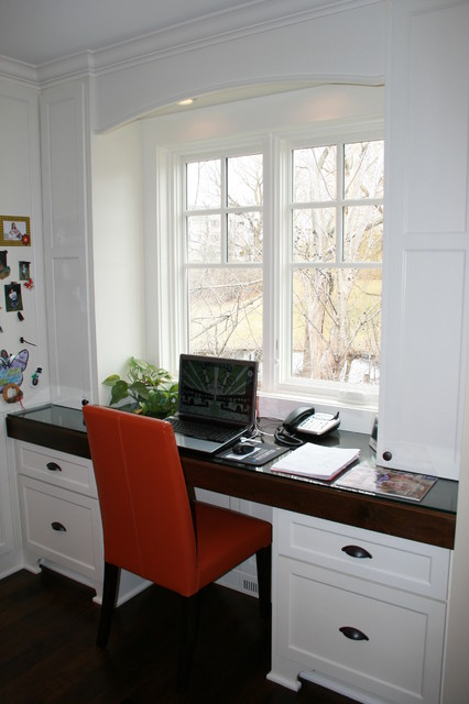 Custom home office desk traditional-home-office