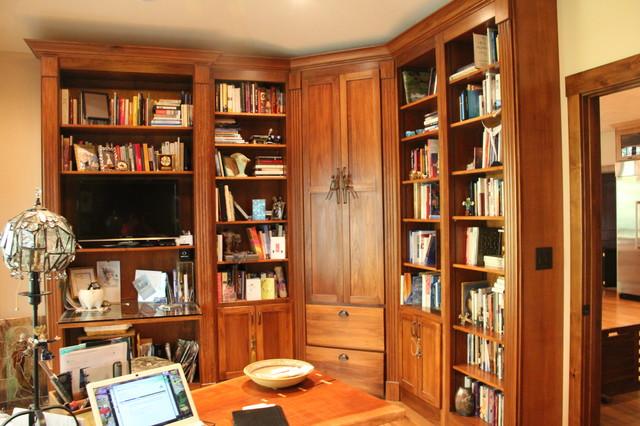 Custom Home rustic-home-office