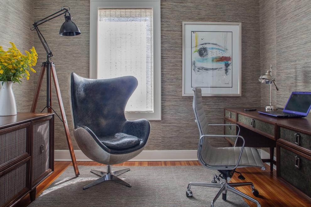Home office - coastal home office idea in Newark