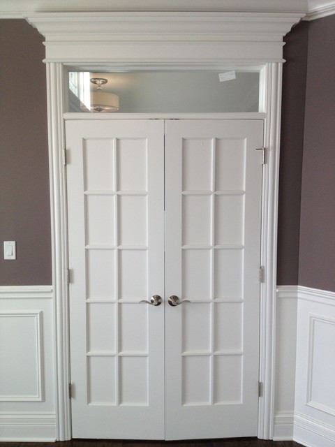 Custom Interior Glass Door W Transom