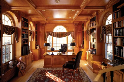 Traditional Home Office building a custom home: designing a home office