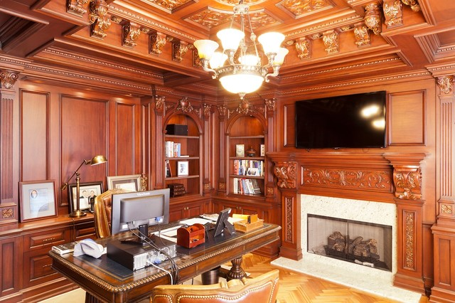 office wood paneling. Library NJ Traditional-home-office Office Wood Paneling N