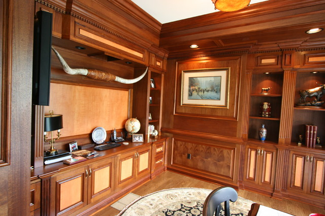 Custom Library Home Office Traditional Home Office