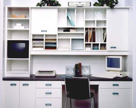 Custom Office /Desk With Upper Cabinets Traditional Home Office