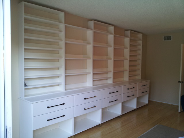 Custom Wall Unit For Cd S Books Modern Home Office