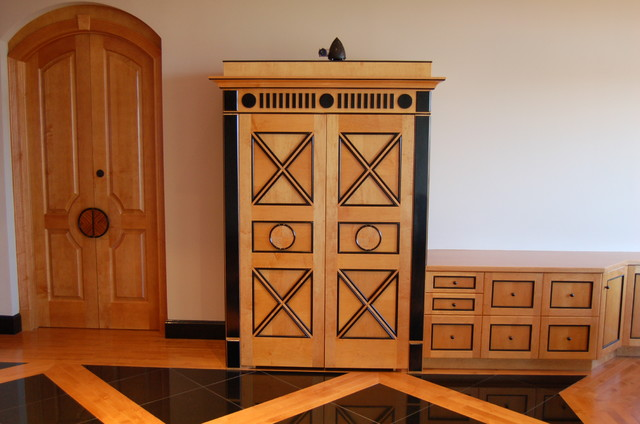 custom wall units traditional home office other
