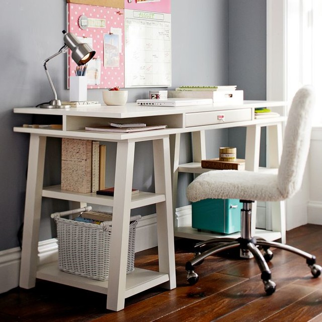 Customize It Storage Trestle Desk