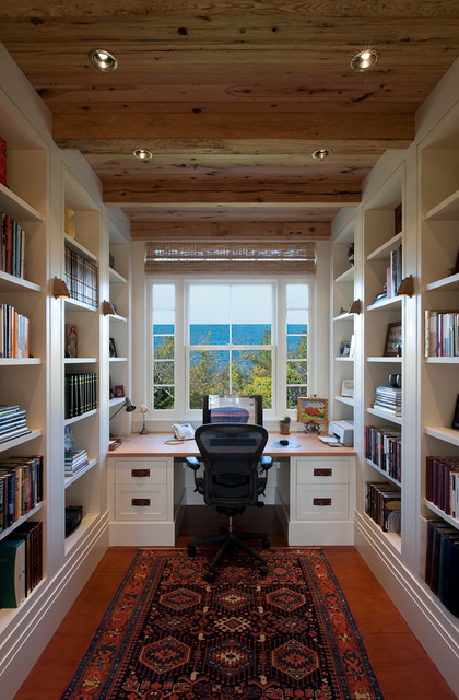 cutchogue waterfront residence traditional home office new york by foley fiore architecture. Black Bedroom Furniture Sets. Home Design Ideas