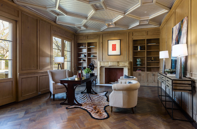 dallas wood home office dallas edlen residence mediterraneanhomeoffice mediterranean home office by