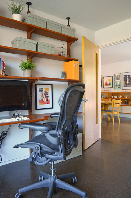 Dallas, TX: Stolp midcentury-home-office