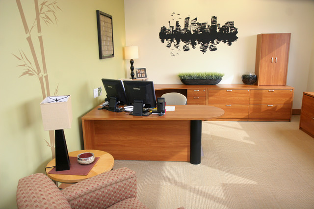 David's Office Accounting Office - Modern - Home Office - DC Metro - by david lyles developers