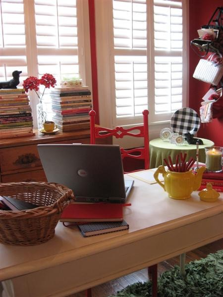 eclectic home office Dear Daisy Cottage- office