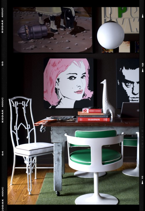 Decor Demons Loft eclectic home office