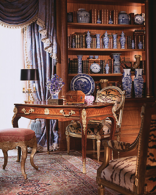 Delightful Liaisons - Eubanks combines 18th century France with a fresh, updated traditional-home-office