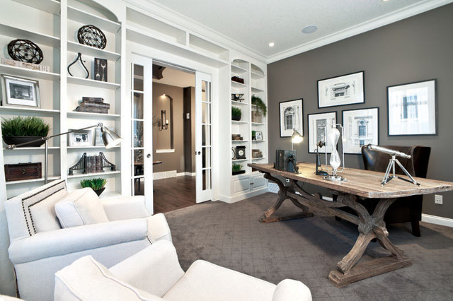 Delmar lotto home previous showhome by shane homes for Office design houzz