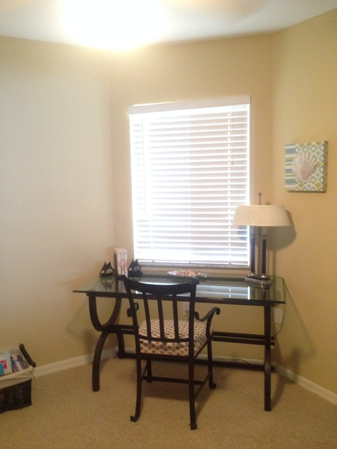 Den after beach style home office miami by for Office 606 design construction llc