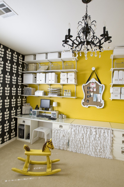 Den / Home office. eclectic-home-office