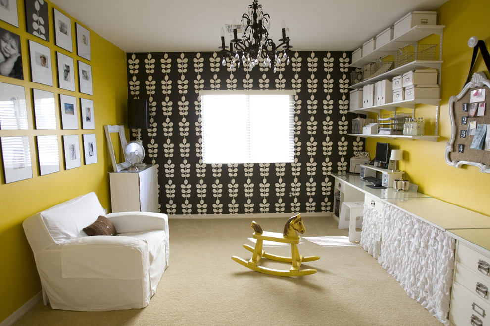 Inspiration for an eclectic craft room remodel in Salt Lake City