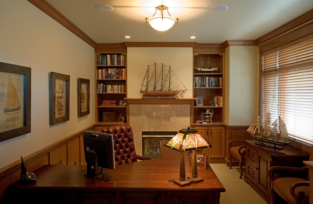 Den Craftsman Home Office Other Metro By Metzdorf Designs And Tcm Built
